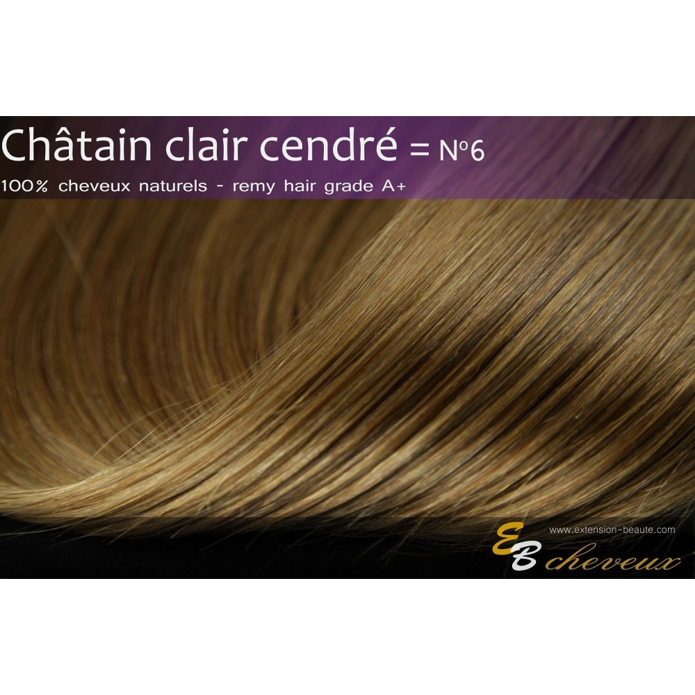 Extension froid ch tain clair cendr n 6 extension beaut - Couleur chatain cendre ...