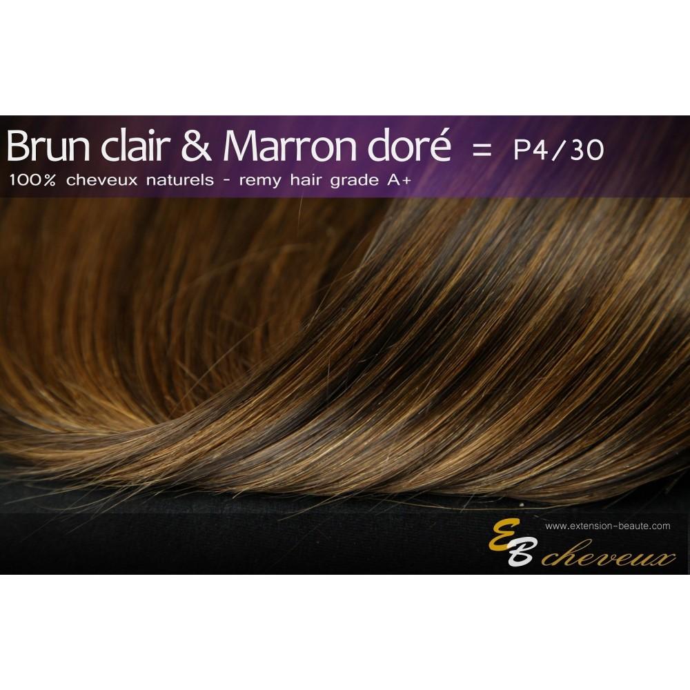tissage cheveux naturels lisse brun clair marron dor p4 30. Black Bedroom Furniture Sets. Home Design Ideas