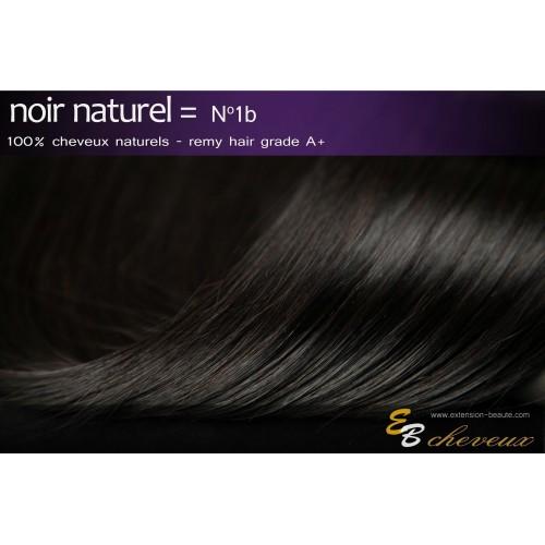 Extensions à clips cheveux naturels Noir naturel N°1B