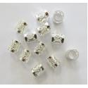 Perles argentées pour tresses / lock