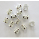 Perles argentés pour tresses / lock