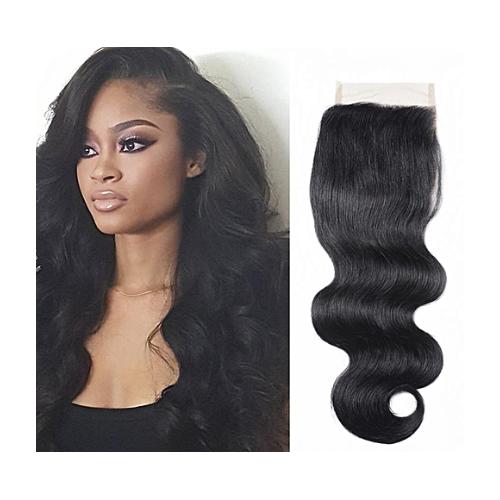 Top closure cheveux ondulé 4''X4'' 14 pouces (35 cm) couleur naturelle  …